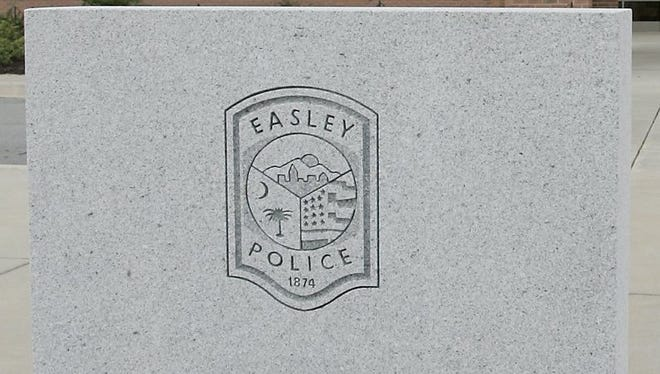 An Easley police officer was dragged by a car during a traffic stop Friday.