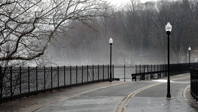"""Fog"" on the old Boonton Bridge by Nanci Smith."