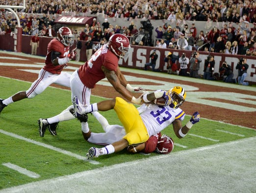 No. 1 Alabama 38, No. 18 LSU 17
