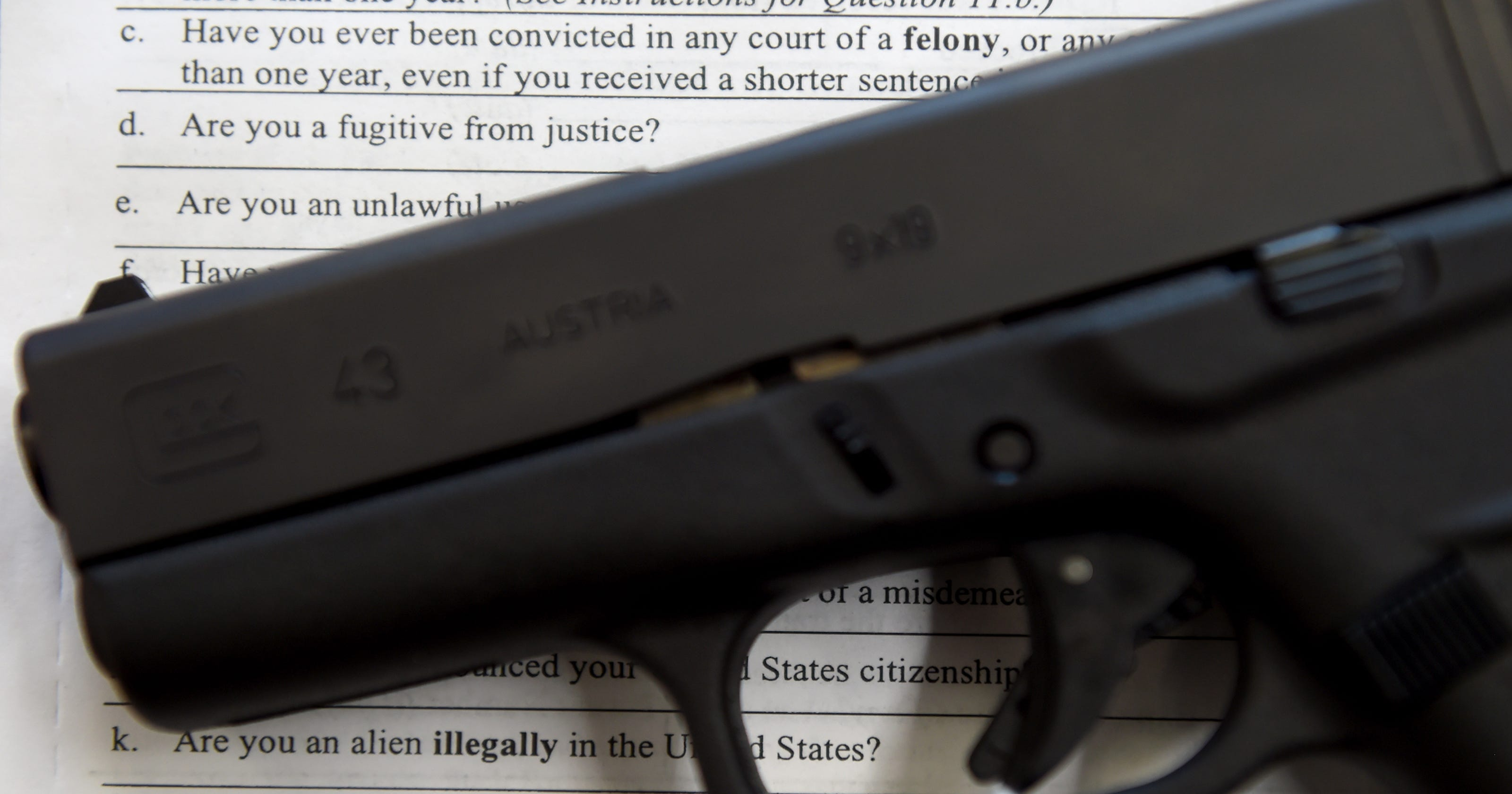 Buying a gun? Don't commit this felony by accident