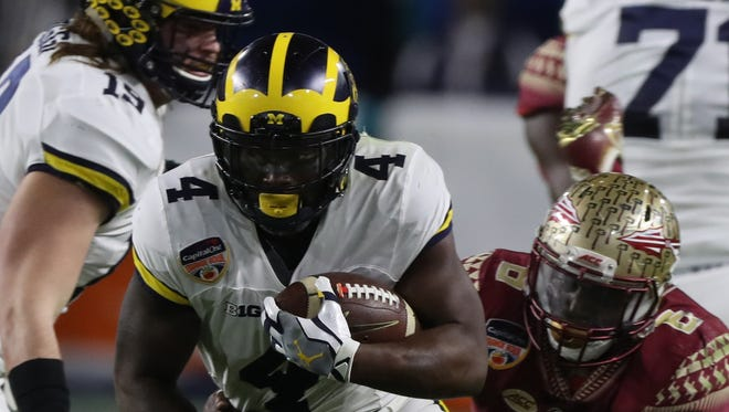 RB De'Veon Smith. Projected round: 5-7. Smith's NFL challenge remains the same as his college issues. He wasn't fast enough. He had two chances to disprove it, but didn't run at the combine and didn't run well at pro day. There are many things he does well that should land him on a team, including pass protection, ball security and toughness and durability. In a deep RB draft, he may have to wait awhile.
