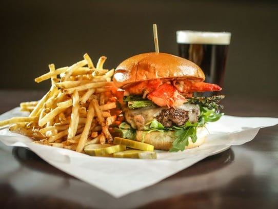 The Surf and Turf grilled burger, $14.95, at Yard House