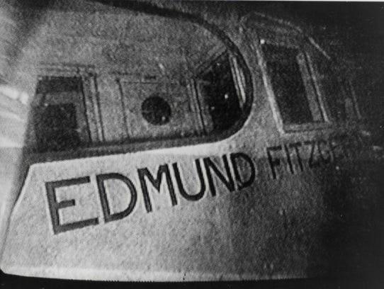 This underwater photo of the sunken SS Edmund Fitzgerald