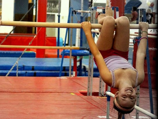 Practicing gymnastics isn't the only activity offered