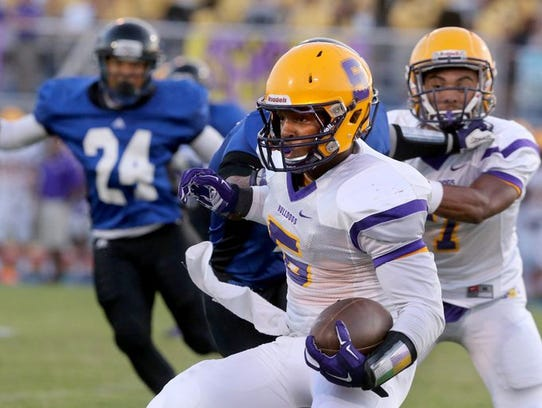 Smyrna's Casey Perkins rushed for more than 120 yards