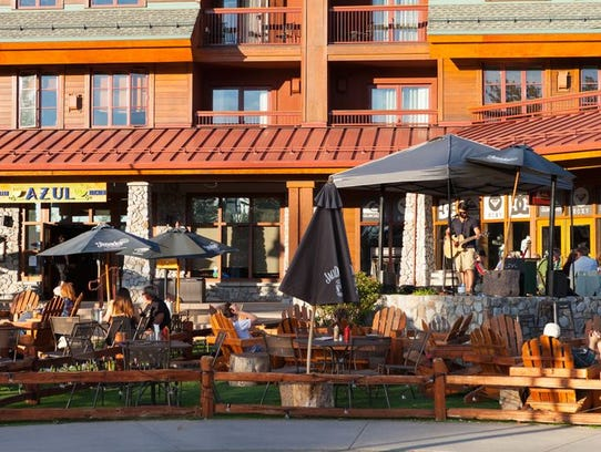 Outdoor dining in South Lake Tahoe.