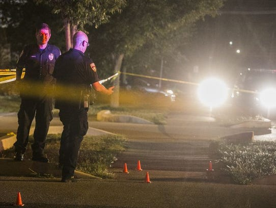 York City Police search for evidence at Small Athletic