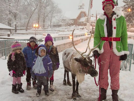 Children will be able to take photos with Santa's reindeer