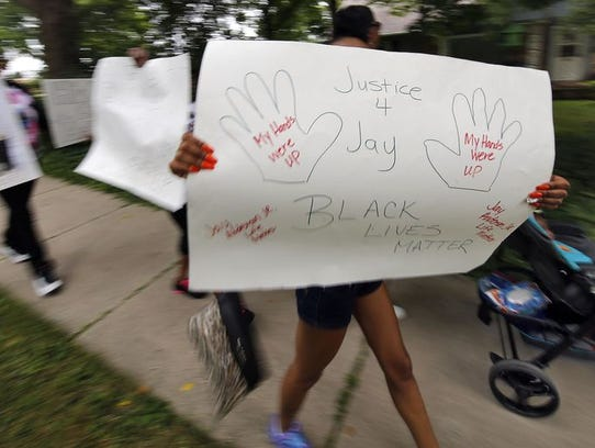 Protests erupted in the wake of the police shooting