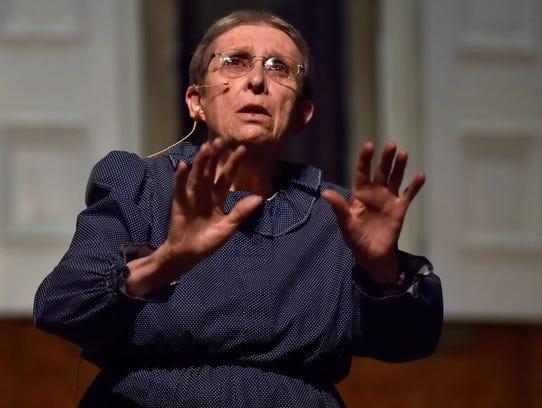 Chambersburg's Joan Bowen portrays her ancestor, an
