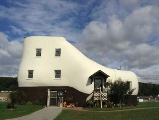 Eat ice cream in a giant shoe. The Haines Shoe House