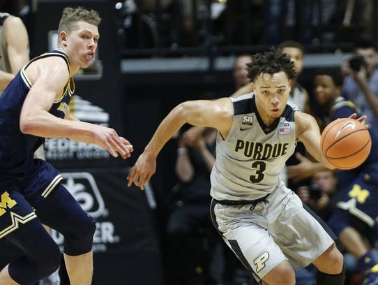 Carsen Edwards scored 13 points for Purdue against