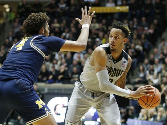 Vincent Edwards had 30 points for Purdue against Michigan.