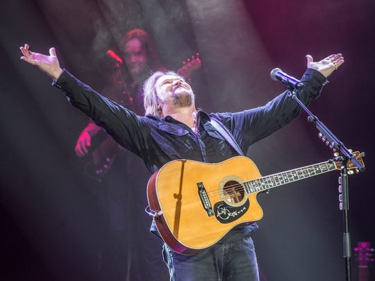 Country music great Travis Tritt sings at the Montgomery