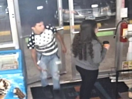 A man and woman suspected in a beer theft on Oct. 27