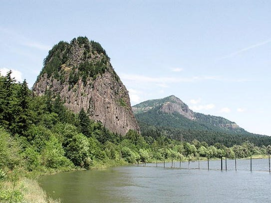 Beacon Rock makes a fun hiking trail in the Gorge.