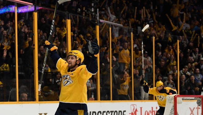 Predators forward Filip Forsberg received a three-game suspension Sunday for interference.