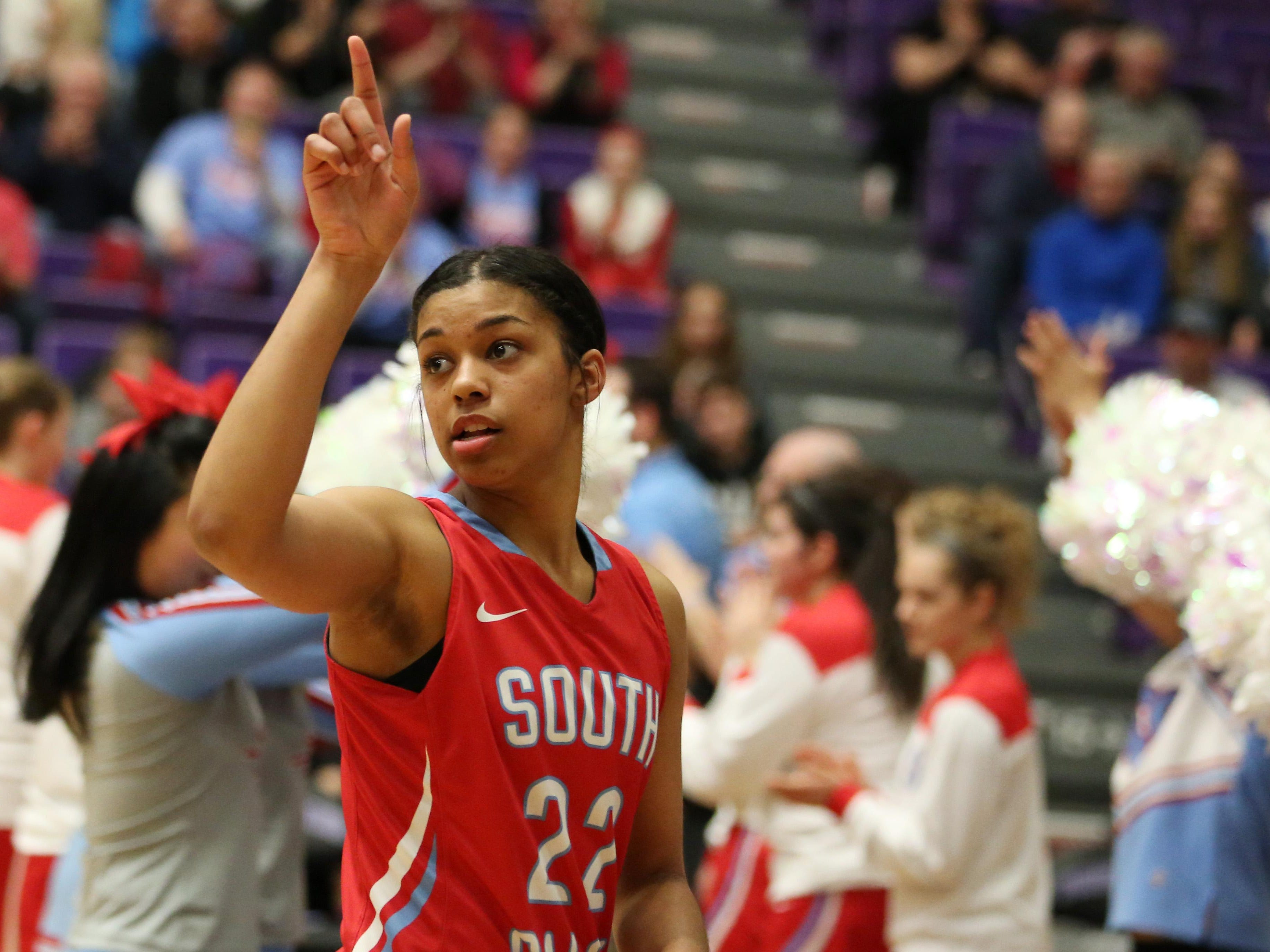 South Salem's Evina Westbrook and the Saxons defeat Tigard 49-42 in the OSAA Class 6A State Championship on Saturday, March 12, 2016, at the Chiles Center at University of Portland.