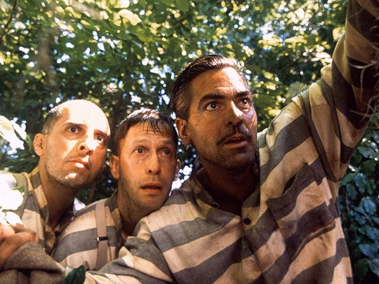 """(From left) John Turturro, Tim Blake Nelson and George Clooney star in the Coen Brothers' take on Homer's """"Odyssey,"""" """"O Brother, Where Art Thou?"""""""