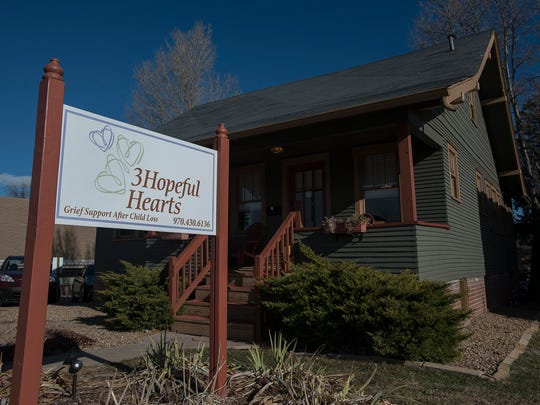 The 3Hopeful Hearts house is located on East Prospect