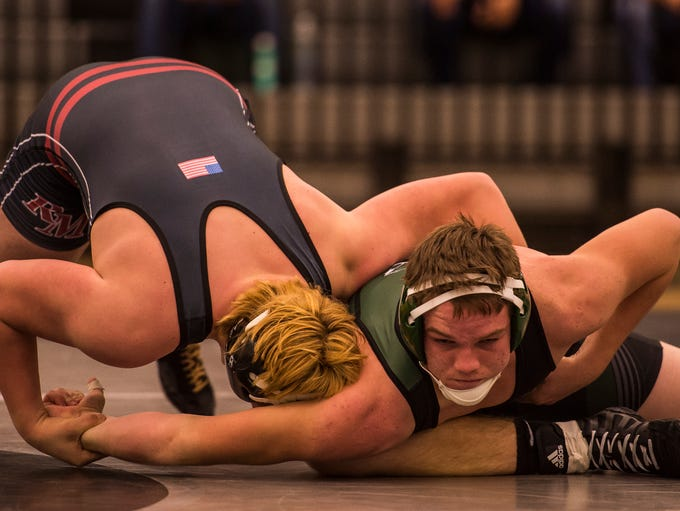 Rocky Mountain High School's Alec Hargreaves, left,