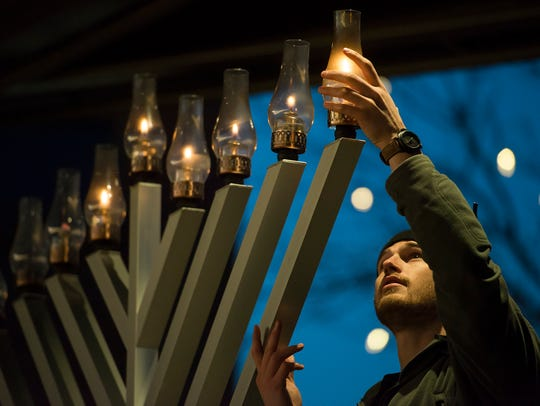 Summit Park in Blue Ash hosts a Grand Menorah Lighting this weekend.