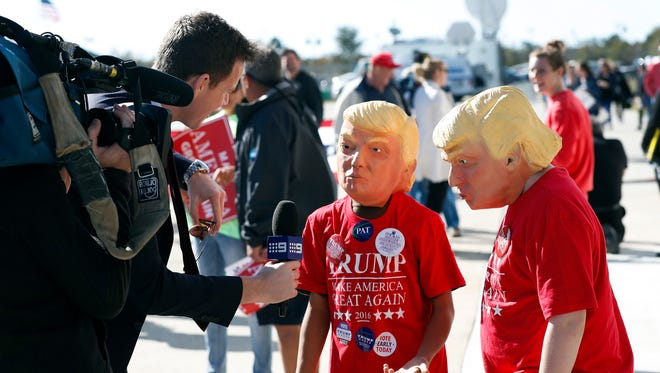 Young Donald Trump supporters in Wilmington, N.C.