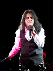 Alice Cooper performs at Alice Cooper's Christmas Pudding Fundraiser concert at the Celebrity Theatre in Phoenix, Saturday, December 9, 2017