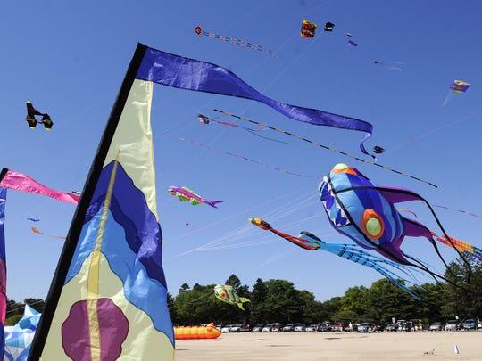 Kites Over Lake Michigan festival at Neshotah Beach