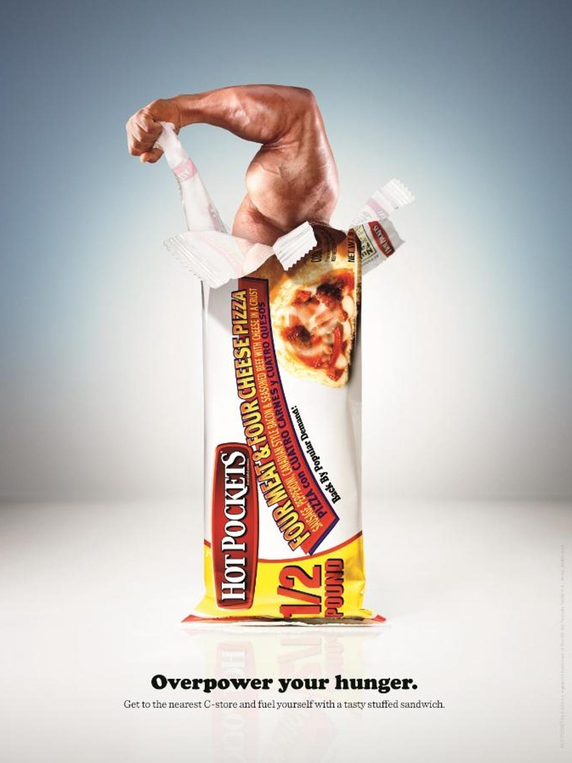 An advertisement for Hot Pockets created by deep, part