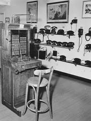 The original switchboard that Susan Parks used during