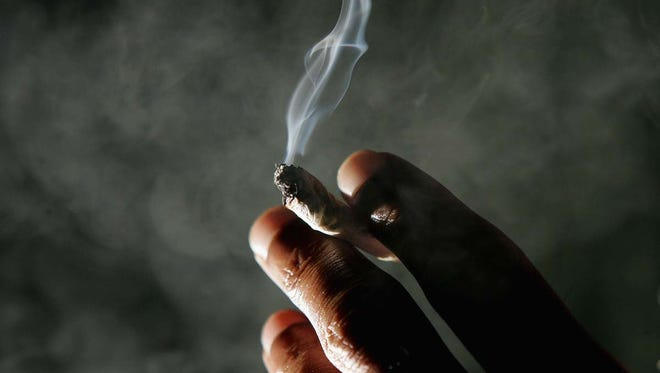 Marijuana cigarette.