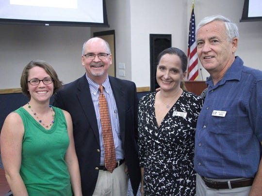 Cathleen Blair, Ridge Schuyler, Annabel Robertson and Don Drinkard discussed the ways United Against Poverty can learn from Charlottesville Works' success.