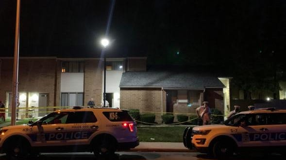 Columbus police on the scene Wednesday, Aug. 12, 2020, on the 300 block of North Monroe Avenue where a 2-year-old boy was mortally wounded inside an apartment residence and later died at Nationwide Children's Hospital. A teenage juvenile had been taken into custody by Columbus police.