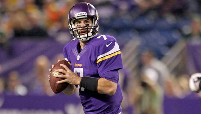 Vikings quarterback Christian Ponder has thrown for two touchdowns and five interceptions this season.