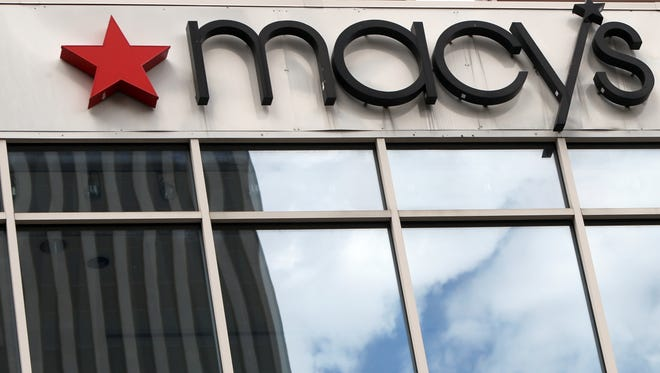 The sign on Macy's downtown Cincinnati store