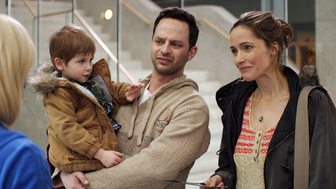 """Rose Byrne and Nick Kroll appear in a scene from """"Adult Beginners."""""""