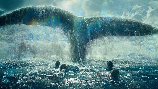 """This photo provided by Warner Bros. Pictures shows a scene from Warner Bros. Pictures' and Village Roadshow Pictures' action adventure film, """"In the Heart of the Sea."""" The movie opens in U.S. theaters on Dec. 11, 2015."""