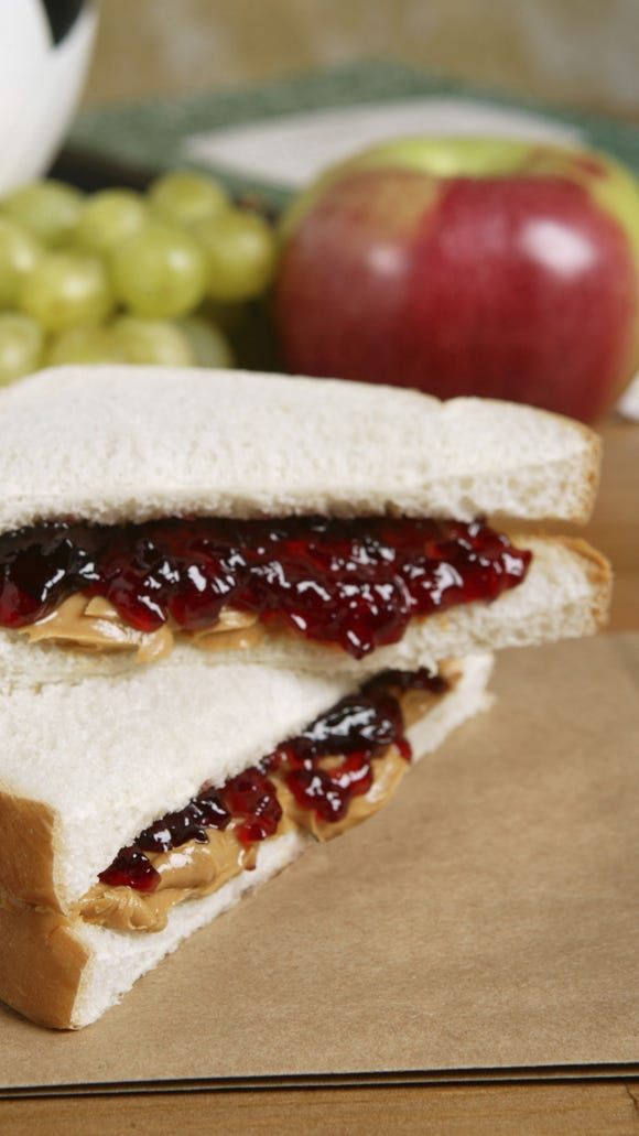 Thinkstock Peanut butter, jelly and bread are on sale