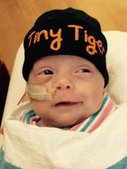 Grayson Burdette, while in the NICU at UAB for 83 days.