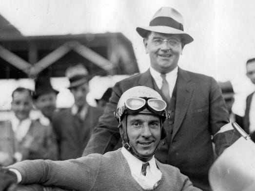 Kelly Petillo after winning the 1935 Indianapolis 500.