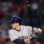 Houston Astros catcher Jason Castro (15) bats during