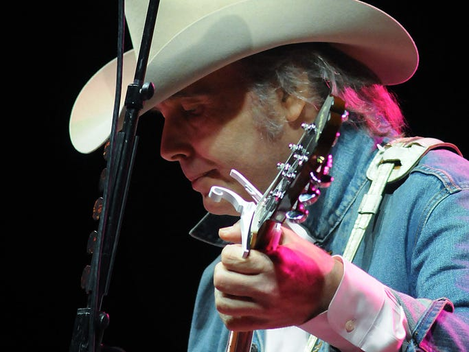 Dwight Yoakam performs at the Woods at Fontanel on Friday, July 18, in Nashville, Tenn.