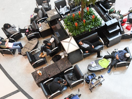 During Hurricane Irma last year hundreds of flights were delayed or canceled at Hartsfield-Jackson Airport in Atlanta. People napped as they waited out the storm.