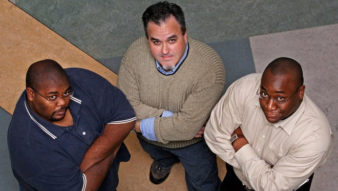 Nine years ago, two of my then co-workers and I took part in a weight loss challenge at The News Journal. This picture from 2007 is of Andre (from left), me and Leon. Although I consider both of these men to be a friend, they have not been to my house nor I to their houses.