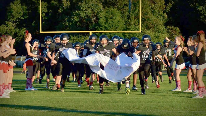 The Fairview Middle School Falcons swarm the field September 27 to defeat Cheatham Middle and advance to the MTAC Championship Game.