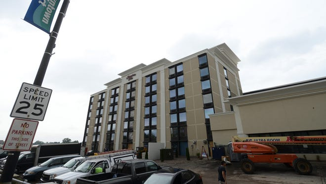 The Hampton Inn on Main Street in Green Bay is scheduled to open in September.
