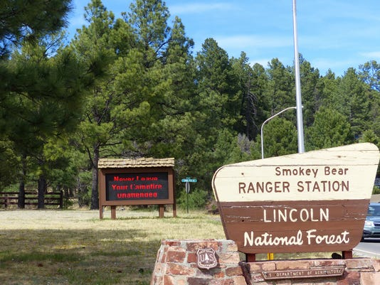 smokey bear ranger district sign LNF