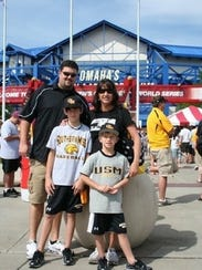 Southern Miss fan Jeremiah Branch and his family attended