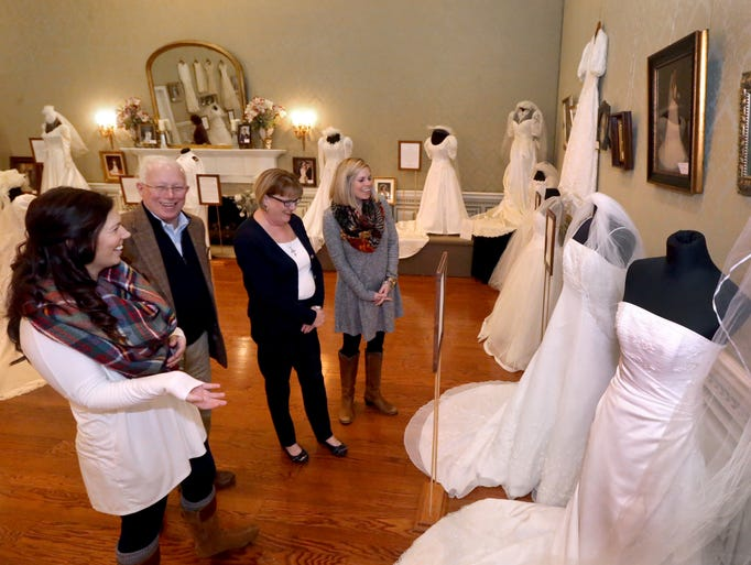 Admiring the 'Wedding Dresses Through the Decades'